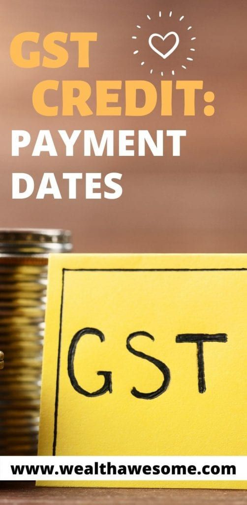 GST and HST Credit Payment Dates