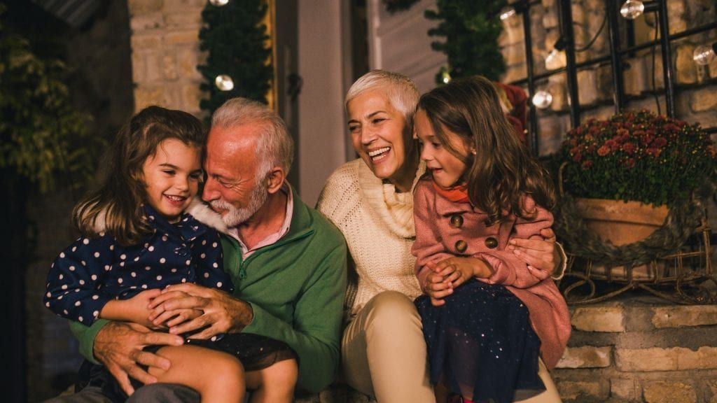 old people with grandchildren