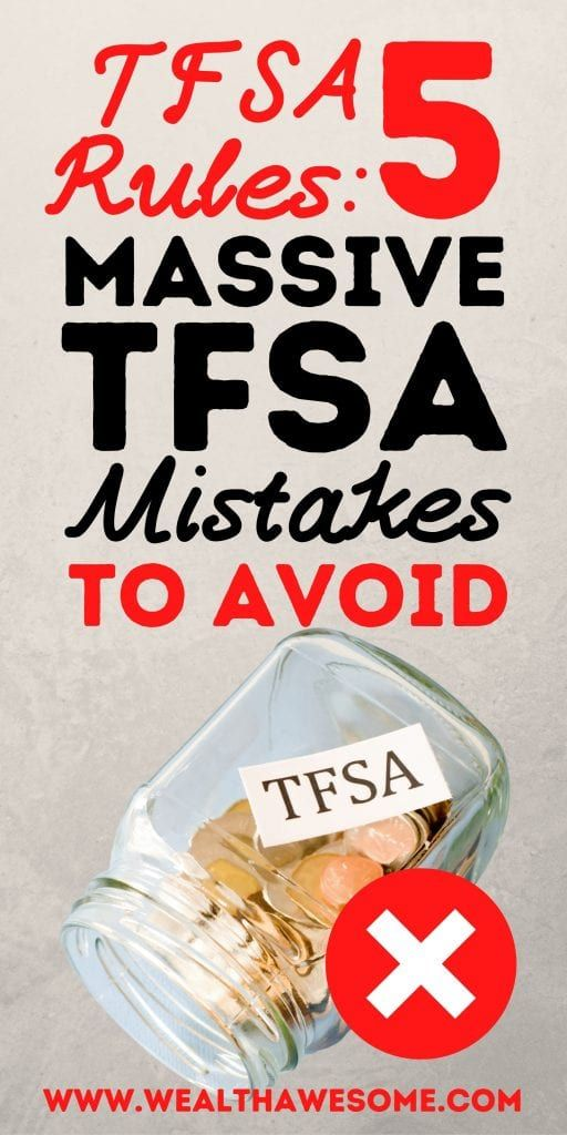 TFSA Rules TFSA Mistakes to Avoid
