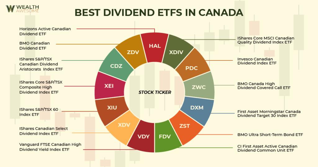 Best Dividend ETFs in Canada Infographic